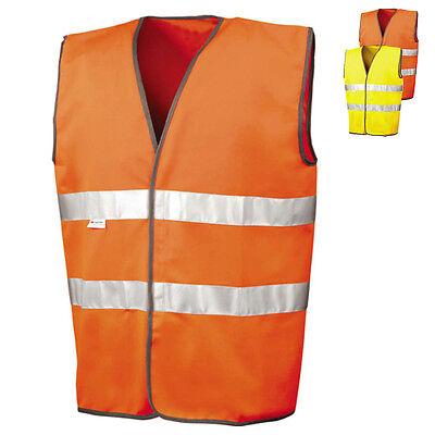 Orange /& Schwarz-NAVY NEU Warnweste Weste Warnschutzweste Zweifarbig Gelb