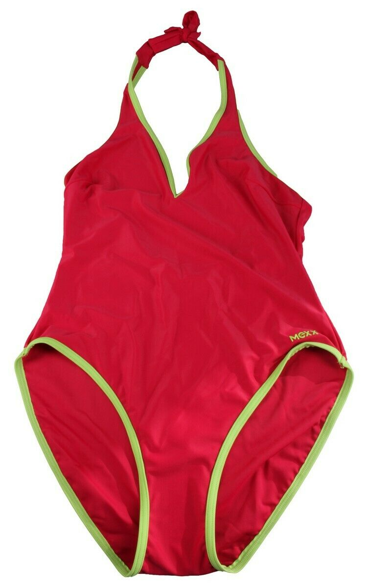 Mexx Ladies Swimsuit Swimming Suit Size 40 Red NEW