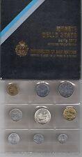 1979 Repubblica  di San Marino Monete Divisionali  FDC con 500 lire in argento