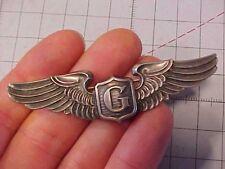 "ORIGINAL WWII USAAF 3"" GLIDER PILOT WINGS - STERLING PINBACK LGB DATED / NAMED"