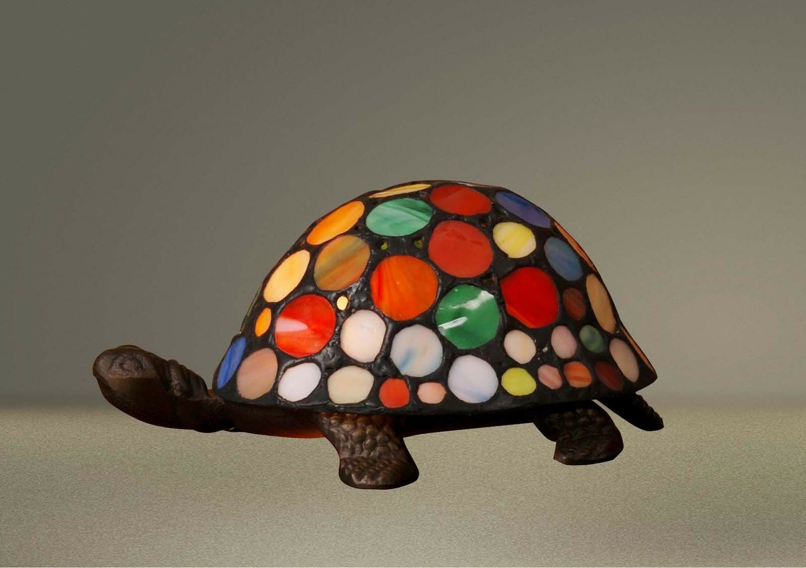 Stained Glass Quality Mutlicolour Turtle Tortoise Tiffany Table ...