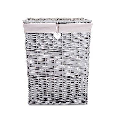 Laundry Wicker Basket Cotton Lining