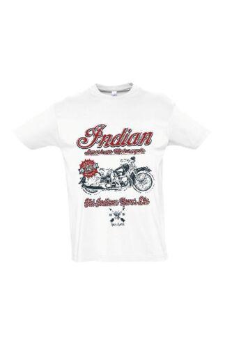 XL Roadway Bastard Herren T-Shirt Kult Biker Motorrad Shirt Weiß Größe M