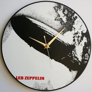 "Modeste Del Zeppelin-del Zeppelin I (1969) - 12"" Vinyl Record Horloge-afficher Le Titre D'origine Design Moderne"