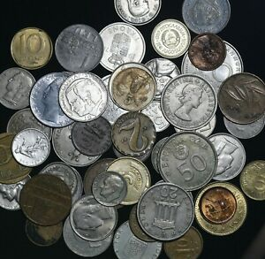 World Coin Collection Lot Of 50 Coins Dates Countries Auction From 1 Ebay