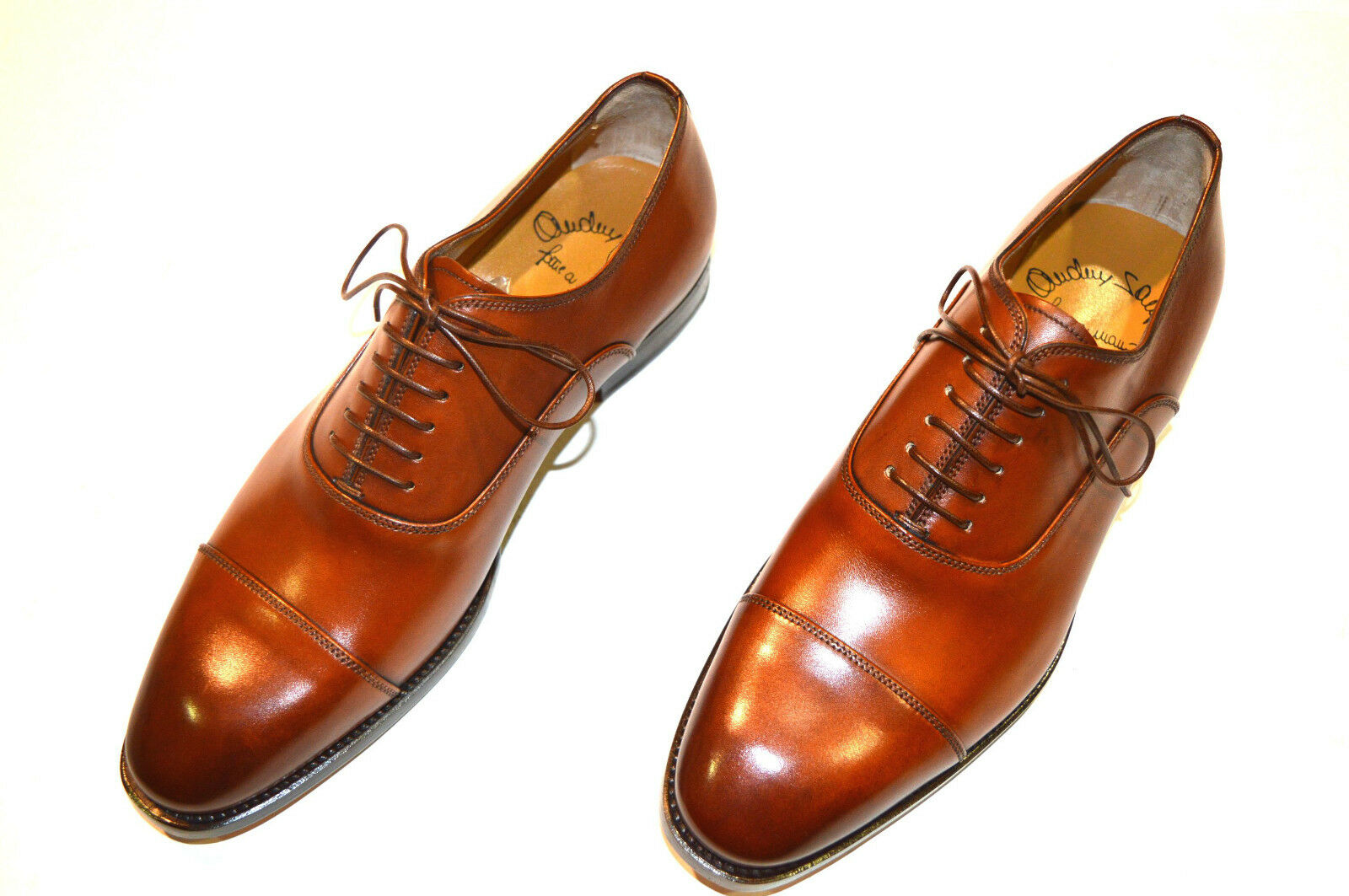NEW SANTONI Dress Brown Leather shoes  SIZE Eu 45.5 Uk 11.5 Us 12.5 (6R)