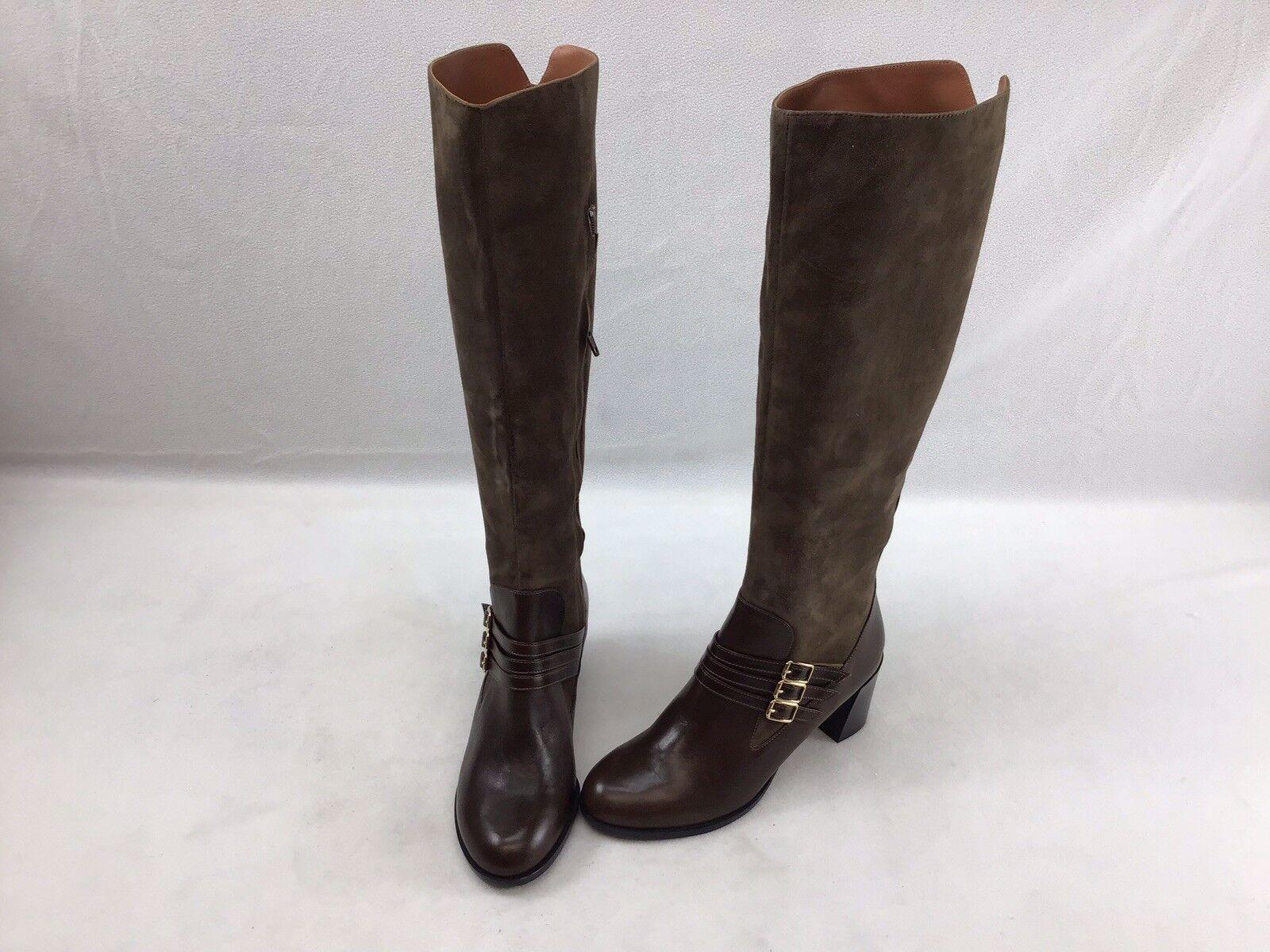 Derek Lam Side Zip Brown Suede Knee Boots Size 7B  F2236
