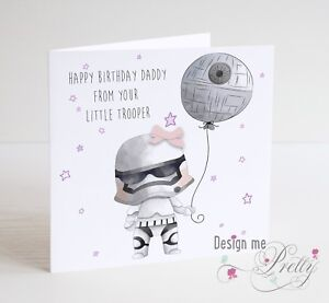 Image Is Loading STAR WARS Birthday Card For DAD FROM YOUR