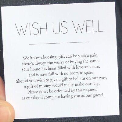 10 Wishing Well Cards General Poem Wedding Invitations Black White