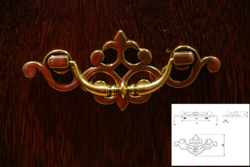 Antique Brass Finish Kitchen Units Drawer Cupboard Cabinet Pull Handles Knob