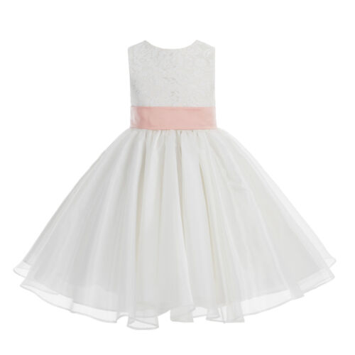 Ivory Flower Girl Dress Wedding Pageant Dress Baptism Dresses Communion Dresses