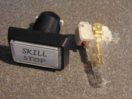 Slide Pusher Skill Stop Button NEW Quarter Pusher Lighted Skill Stop Button AKA