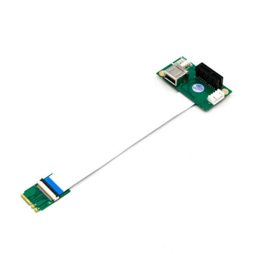 NGFF Key A//E to PCI-E Express X1+USB Riser Card with High Speed FPC Cable M.2