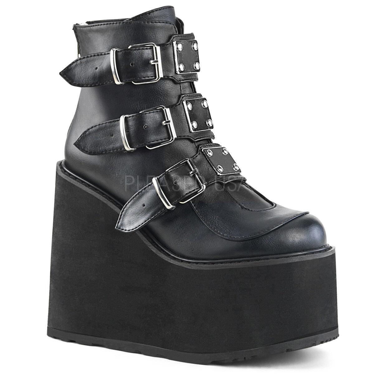 tutto in alta qualità e prezzo basso Demonia Swing 105 nero Matte Multiple Buckle Ankle avvio 5.5 5.5 5.5  Platform  nuovo stile