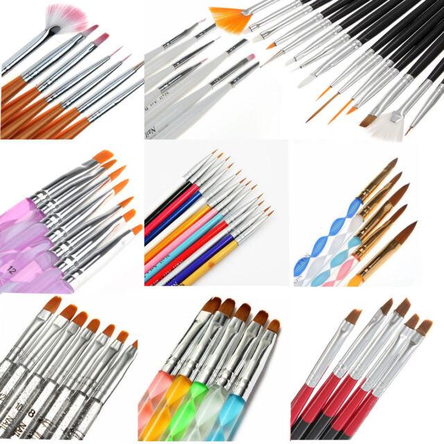 Nail Art Pen Liner Painting Brush DIY Design Manicure Acrylic UV Gel Polish Tips