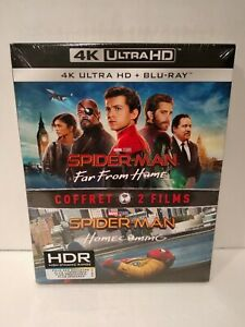 Spider-Man-Homecoming-amp-Spider-Man-Far-From-Home-Coffret-de-2-Blu-Ray-4k-Neuf
