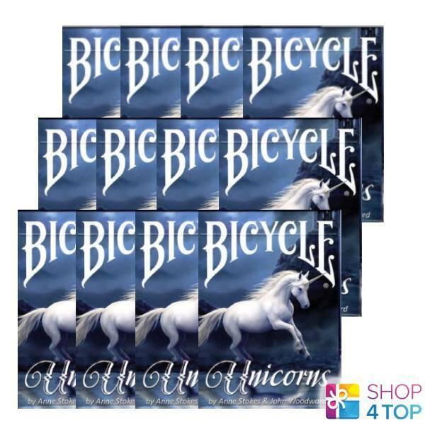 12 ponts Bicycle Anne Stokes  UNICORNS jeu voituretes fantaisie art USA USPCC NEUF  70% de réduction