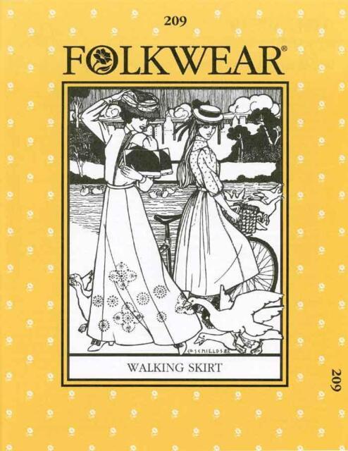 Folkwear 209 Victorian Walking Skirt Early 1900s Costume Sewing Pattern