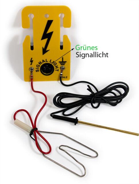 Zaunprüfer Signal Light Zauntester Weidezaun Blitzlicht Elektrozaun