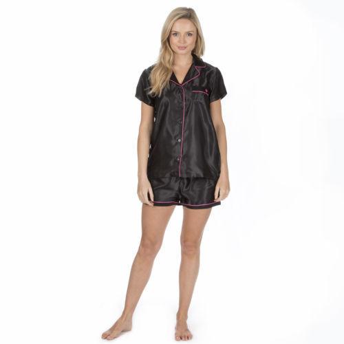 Chaussures femme en satin femme Pyjama Set à manches courtes Nightwear short d/'été de détente
