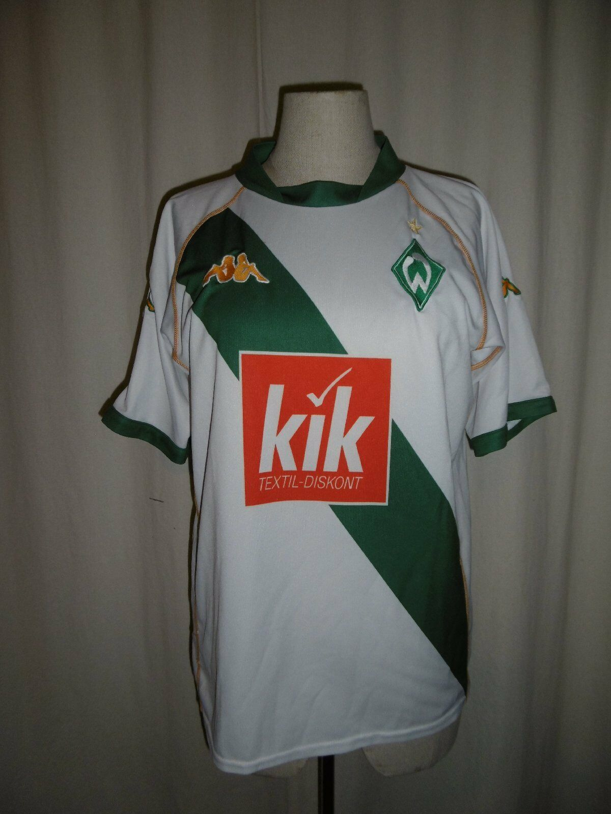 Sv Werder Bremen Jersey Season 2004 short Sleeved White Green Size 140 152