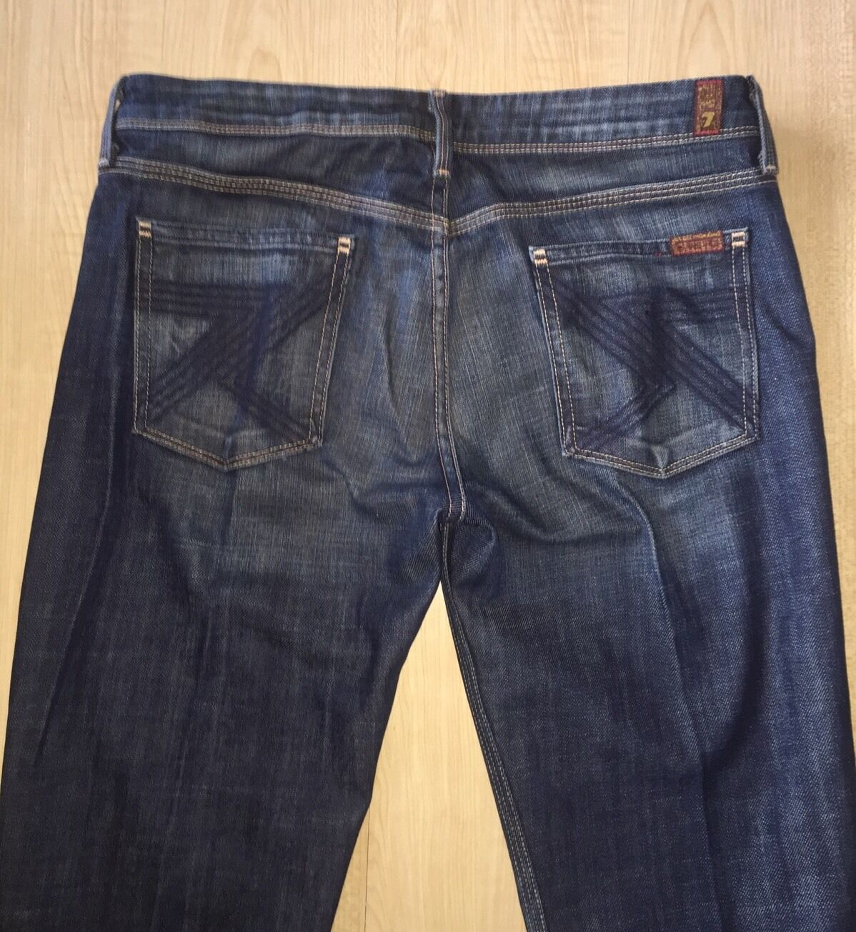 New 7 Seven For All Mankind Flynt Denim bluee Jeans, Size 29