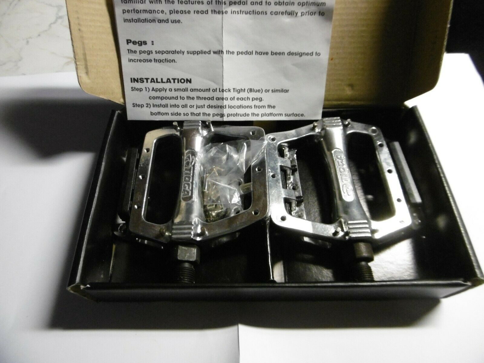 Tioga PG COMP SF-MX2 BMX Racing Pedals 9 16  Old Mid School New In Box