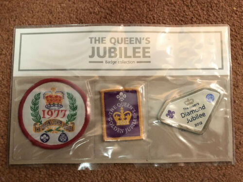 Boy Scout Girl Guide Badge 1977 The Queens Jubilee Badge Collection New In Pack