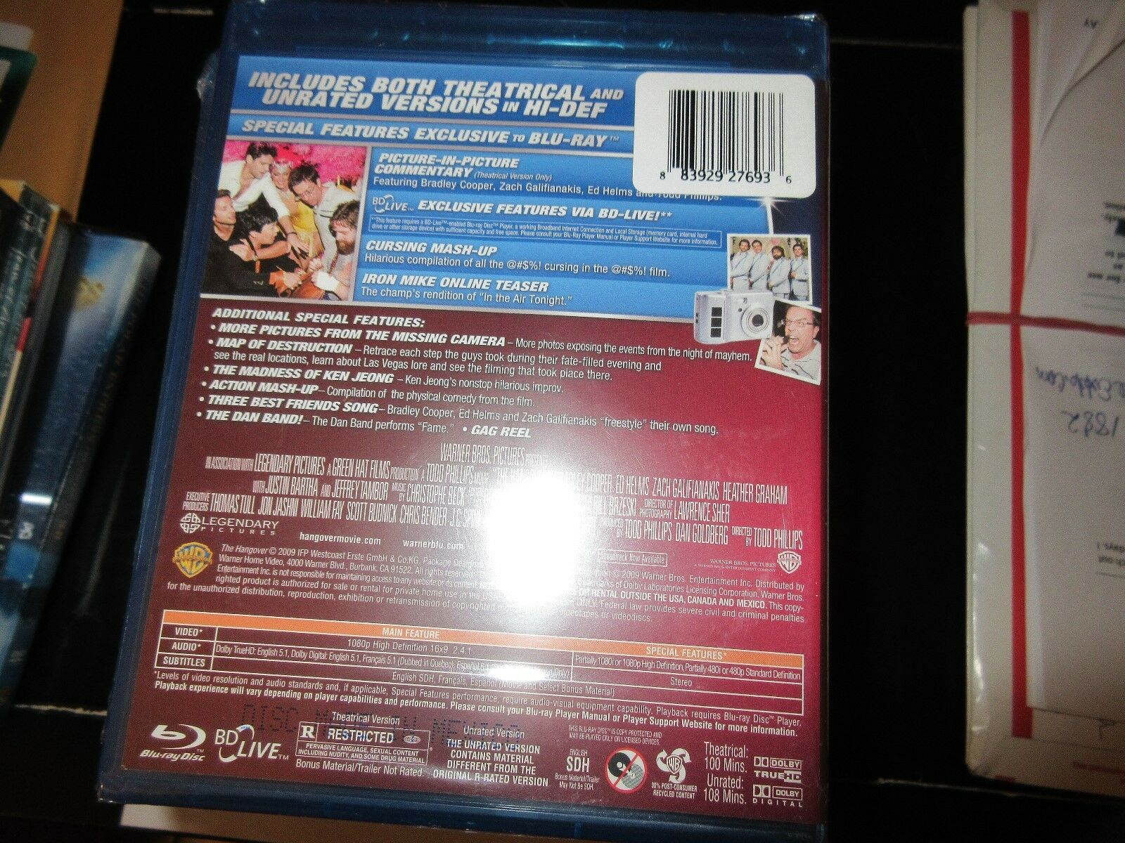 The Hangover , Blue-Ray Disc 883929276936