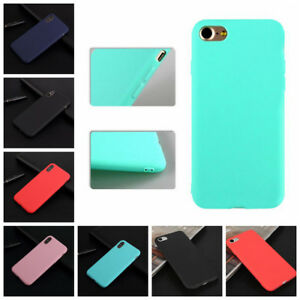 Funda-de-Silicona-Gel-Slim-Carcasa-Matte-Cover-Case-Para-iPhone-6S-7-8-XS-Max-XR