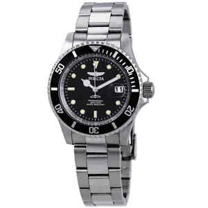 Invicta-Pro-Diver-Black-Dial-Stainless-Steel-40-mm-Men-039-s-Watch-26970