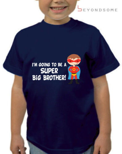 BOY/'S I/'M GOING TO BE A BIG BROTHER SUPERHERO T-SHIRT TSHIRT KIDS TOP AGES 1-12