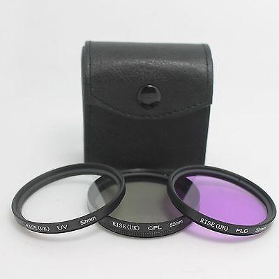 52mm FLD+UV+CPL Circular Polarizing Filter FOR nikon d3100 d5100 d3200 kit lens