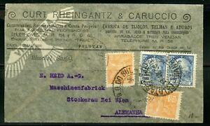 Brasil-Pelotas-4-13-1936-Correo-Aereo-Cubierta-A-Stockerau-4-28-Via-Viena