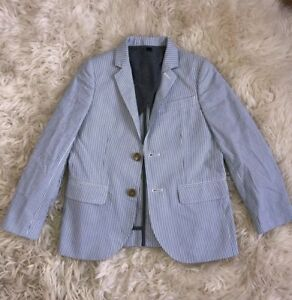 707a2b267 New J.Crew Crewcuts Boys $158 Ludlow Suit Jacket in Seersucker Blue ...