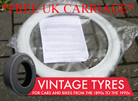 "4X 15"" WHITE WALL TYRE TRIMS WHITEWALL BEETLE MGA MGC"