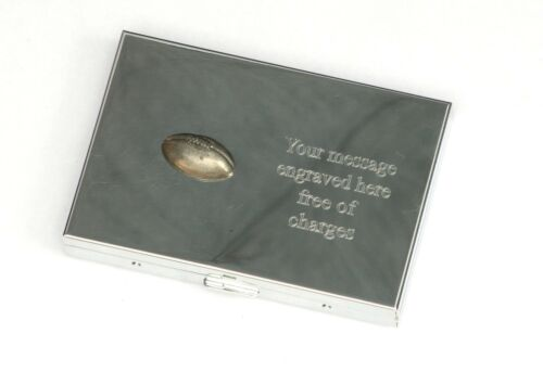 Rugby ball emblème poche calculatrice business//de crédit titulaire de la carte gravé cadeau