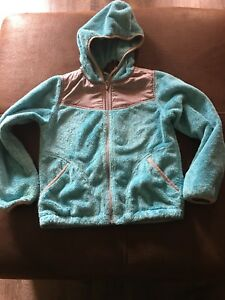 ef5466405 Details about The North Face OSO Hooded Fleece Jacket Coat Girls Size Small