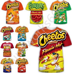Hot-Cheetos-food-Funny-3D-Print-Women-men-Casual-T-Shirt-Short-Sleeve-Tops
