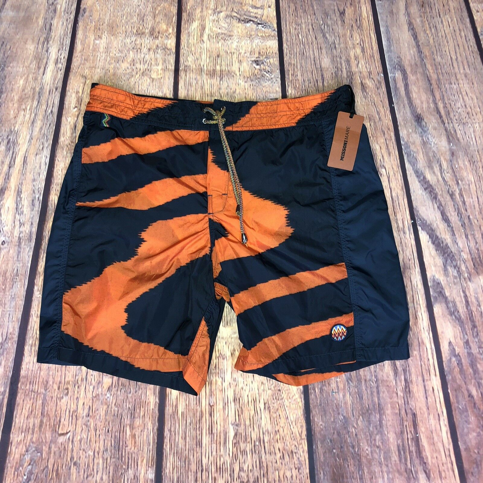 "RRP  Missoni Tiger Print Swim Shorts 32"""