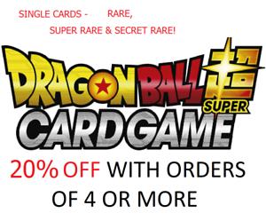 Dragon Ball Super Cards SPR Singles TCG R SR BT1 Galactic Battle