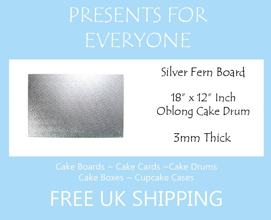50 x 18  x 12  pouces 3mm épais ovale rectangulaire cake board