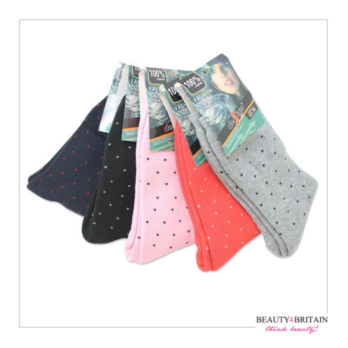 30 x Women's Very Warm Socks Winter Cotton Rich Thick Everyday Different Pattern