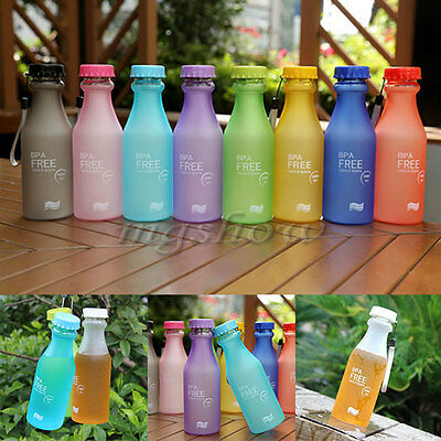 Portable Leak-proof Unbreakable Travel Sport Water Bottle Camping Hiking Cycling