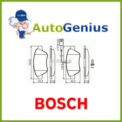 Kit pastiglie freno Anteriori FIAT QUBO 1.4 NaturalPower 1.3 mj 09/> BOSCH 24597