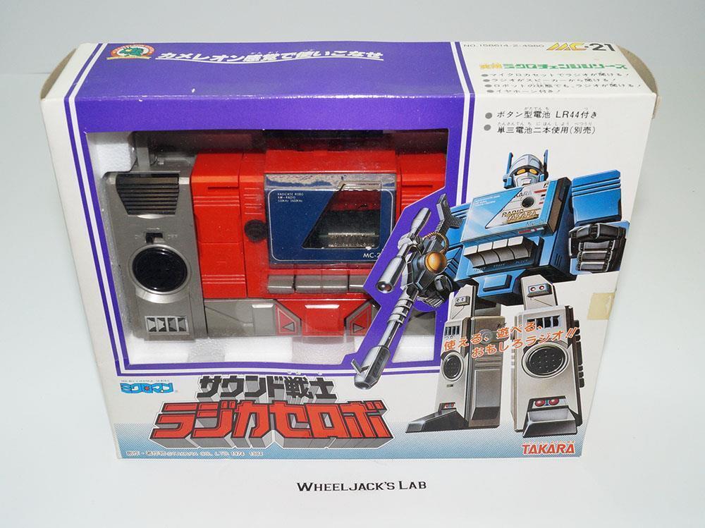 NEW Blaster Radi-Cassette Robo rosso MC-21 Micro Change Pre Transformers Takara