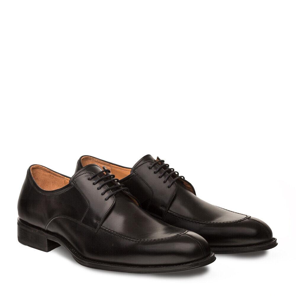 Nuevo Vestido mezlan Para Hombre Zapato Clásico Delantal Split Toe Oxford Piel de Becerro Cuero Negro