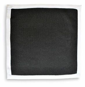 Frederick-Thomas-tricote-Carre-Mouchoir-de-poche-Noir-ft3164