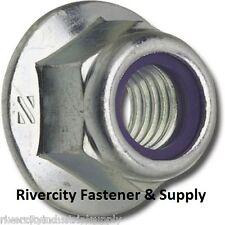 (25) M8-1.25 or 8mm Metric Hex Flange Stop Lock Nut / Nylon Insert DIN 6926