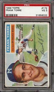 1956 Topps #172 Frank Torre Milwaukee Braves PSA 3 VG